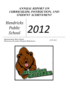 Annual Report on Curriculum, Instruction, and Student Achievement