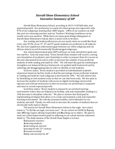 Stovall-Shaw Elementary School Executive Summary of SIP