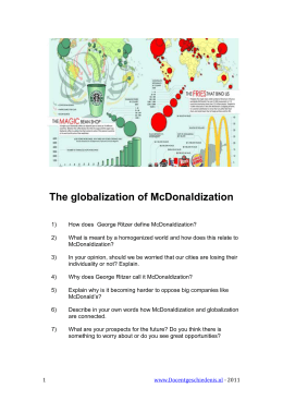 The globalization of McDonaldization