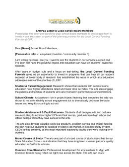sample letters to board members