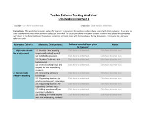 Teacher Evidence Tracking Worksheet-