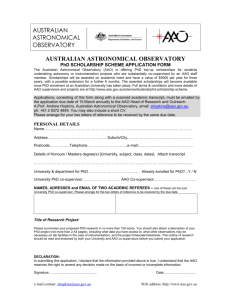 AAO PhD Scholarship (Word format) - Anglo