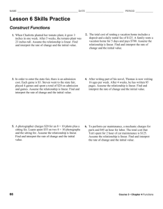 Lesson 6 Skills Practice Construct Functions