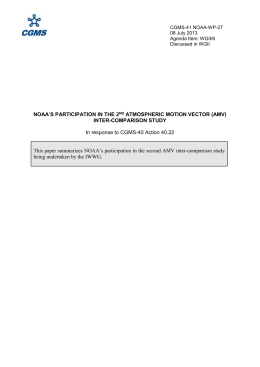 NOAA`s PARTICIPATION IN THE 2 nd Atmospheric Motion