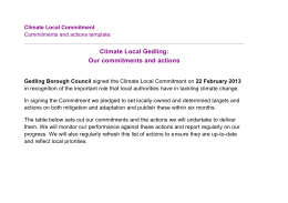 Climate Local Commitments