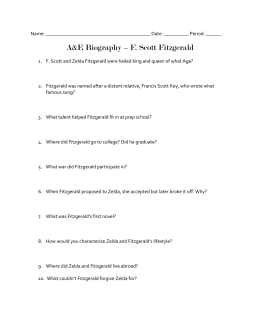 Fitzgerald biography questions