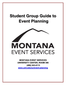 Event Planning Checklist - Vice President for Student Affairs