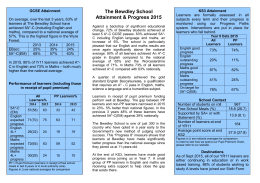 Attainment and PP Report to Parents 2015