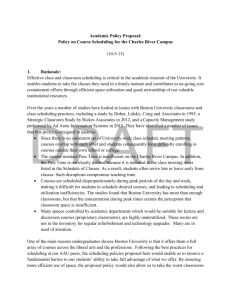 DRAFT Policy on Course Scheduling for the