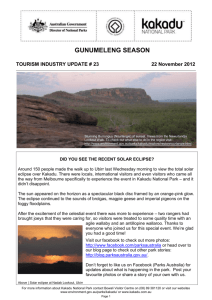 Kakadu National Park - To0urism Industry update #23 2012