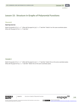 Lesson 15: Structure in Graphs of Polynomial Functions
