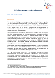 Global Governance on Development - Draft note