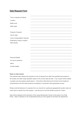 Data Search Request Form - Jersey Biodiversity Centre