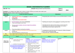 Sample Weekly Maths Planner 1 - Effective Curriculum Ideas