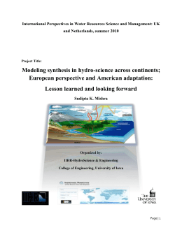 Modeling synthesis in hydro-science across continents