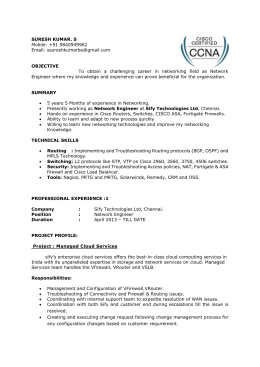 Resume - Evolution Services