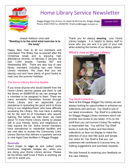 Summer 2015 Newsletter - Wagga Wagga City Council