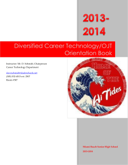 Diversified Career Technology/OJT Orientation Book