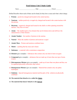 Food Science Unit 3 Study Guide