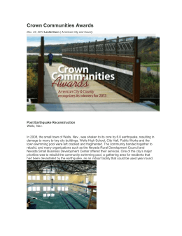 Crown Communities Awards