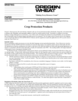 BRIEFING - Oregon Wheat Grower`s League