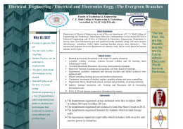 ELECTRICAL Brochures - CU Shah College of Engineering