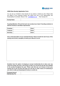 New Society Application Form