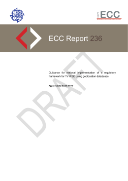 Draft ECC Report on TVWS