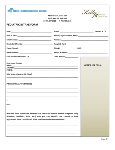 Pediatric Intake Form