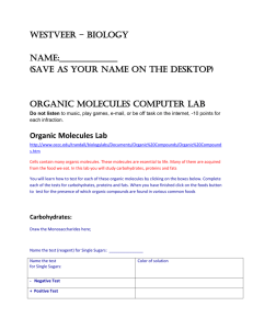 (Save as your name on the desktop) Organic Molecules Computer Lab