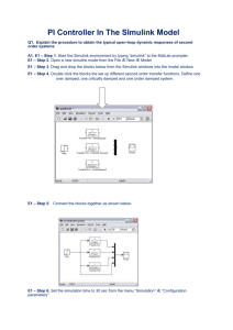PI Controller In Simulink Model Assignment Help