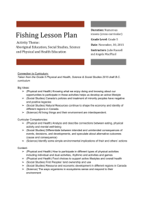 Assignment 4 – Cross Curricular Lesson on Fishing