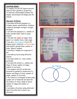 Geometry Learning Goals and Success Criteria