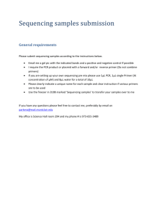 Please submit sequencing samples according to the instructions