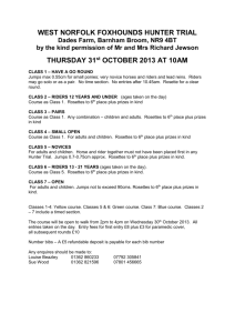 WEST NORFOLK FOXHOUNDS HUNTER TRIAL