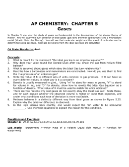 AP CHEMISTRY: CHAPTER 5