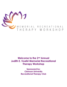 Welcome to the 2nd Annual Judith E. Voelkl Memorial Recreational