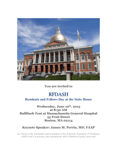 Residents and Fellows Day at the State House