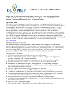 Special Education Coordinator - The DC Special Education