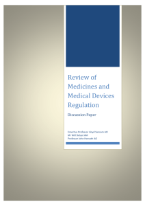 appendix 1: review of medicines and medical devices regulation