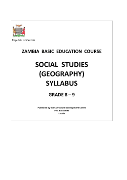 geography-(social studies )grade 8 - 9 syllabus
