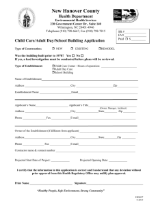 Childcare Adult Day School Building Application