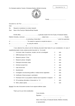 Document No. 1b For Graduate students Mahidol University