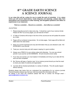 Click here for the journal guidelines!