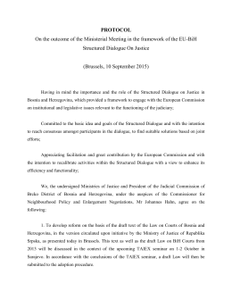 Protocol on the outcome of the Ministerial Meeting in the framework