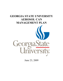 georgia state university aerosol can management plan