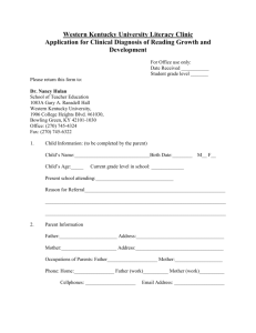 Application for Clinical Diagnosis of Reading Growth and