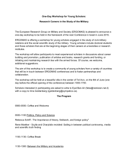 One-Day Workshop for Young Scholars: Research Careers in the