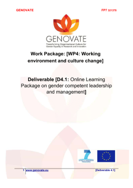 D4.1 Online gender competent leadership and management package