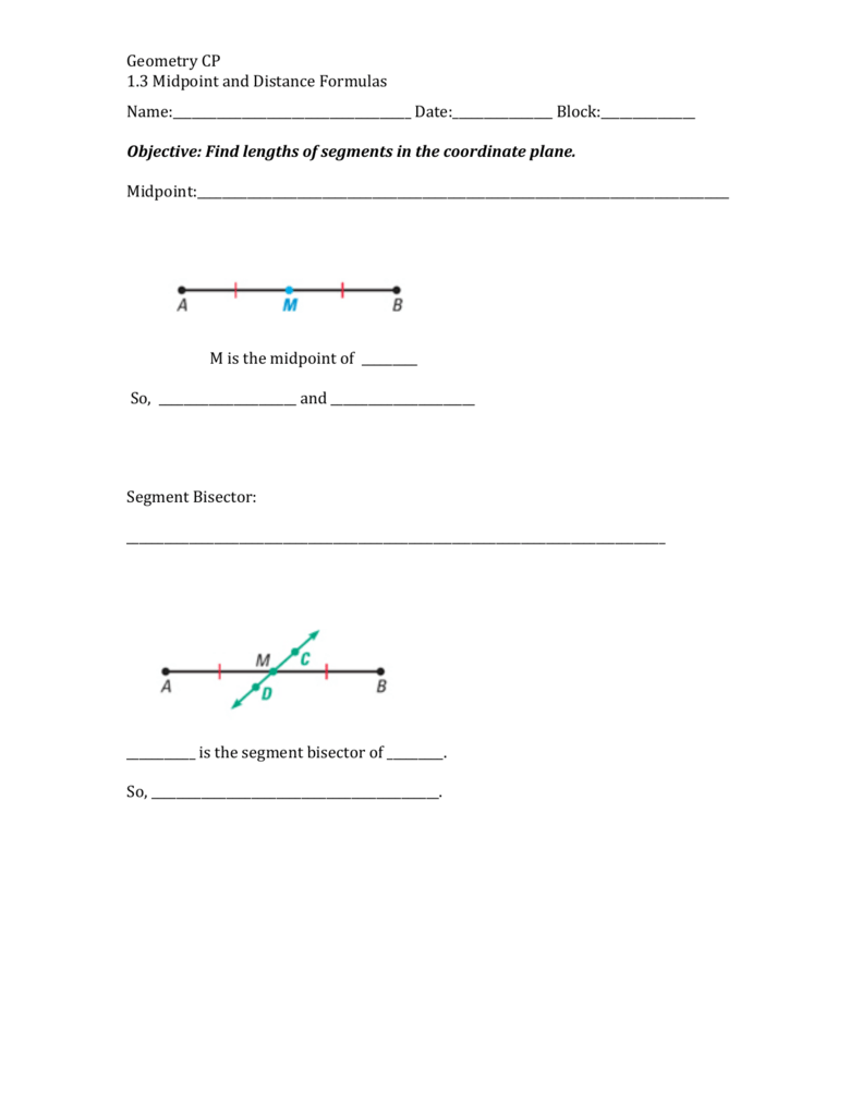 13 Midpoints And Distance Formula